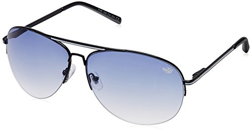 Flying Machine Aviator Sunglasses (Shiny Black) (FMS 106|204|62)  available at amazon for Rs.799