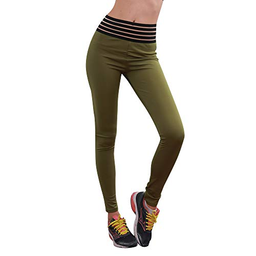Solid Color-leggings (Damen Yoga Hosen Sporthose High Waist Sport Solid Color Training Laufende Leggings Tights Sweathose Elasticher Bund Sporthose Lang Pullover)