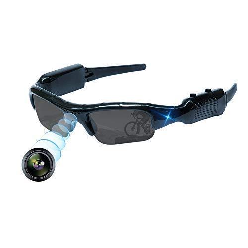 YOUYE Versteckte Kamera Gläser Loop Videoaufnahme Kamera Snapshot Outdoor Sports tragbare Sonnenbrillen Mini Brille tragbare Überwachungskamera für Angeln, Radfahren, Wandern Mini Brille Kamera