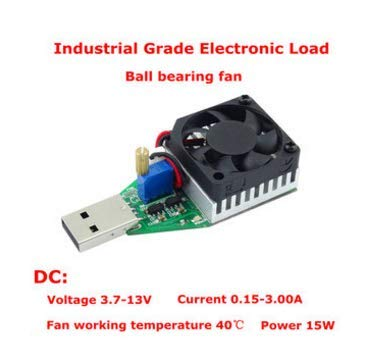 MYAMIA Ruideng Dc 3.7-13V 15W Cilvil und Industrie-Grade Elektronische Lastwiderstand USB-Schnittstelle Entladung Batterie Test Kapazität Ventilator Einstellbaren Strom-B