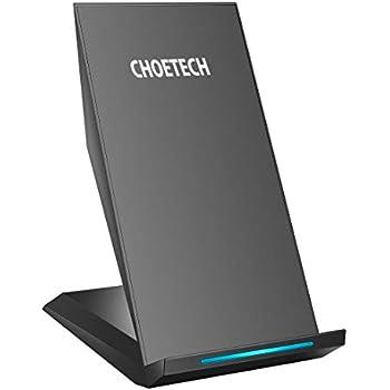 Chargeur Rapide Sans Fil,CHOETECH 10W Faster Charger Qi Chargeur Sans Fil [Avec Captateur D