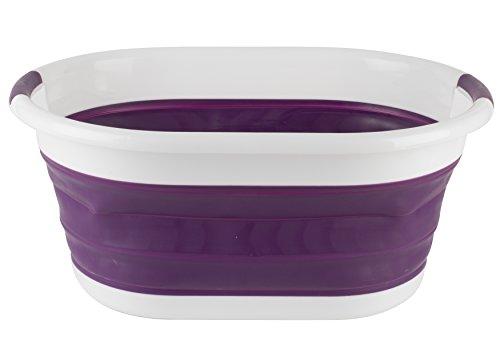 Beldray ovale pieghevole cesto della biancheria, viola, 62x 44x 8.3cm