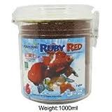 Aquadene Ruby Red 1 Liter Red Parrot Flower Horn Gold Fish Aquarium Food
