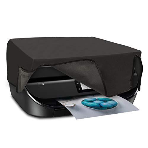 kwmobile Funda para HP OfficeJet 5230/5232 - Carcasa de [Silicona] Suave para Altavoz - Case Protector en [Gris Oscuro]