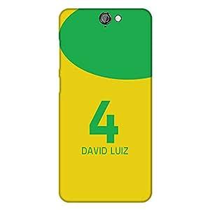 Mobo Monkey Designer Printed Back Case Cover for HTC One A9 (David Luiz :: Soccer :: Brazil :: Chelsea F.C. :: Jersey)