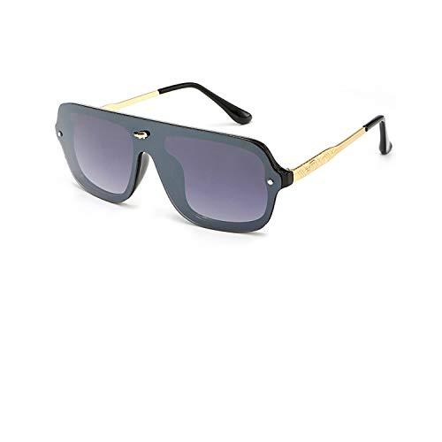 Sportbrillen, Angeln Golfbrille,NEW Luxury Oversized Sunglasses Women Men Brand Designer Mirror Sun Glasses Oculos Lunette De Sol Feminino Gafas Mujer Hombre ShinyBlack Grey