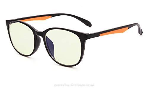 Delilya Blue Light Blocking Computer Brille Anti Blue Ray Square Brillen reduzieren die Belastung der Augen für Frauen Männer,Orange