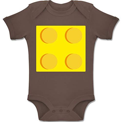 Mädchen Gruppe Vier Kostüm - Shirtracer Karneval und Fasching Baby - gelber Stein 4-12-18 Monate - Braun - BZ10 - Baby Body Kurzarm Jungen Mädchen