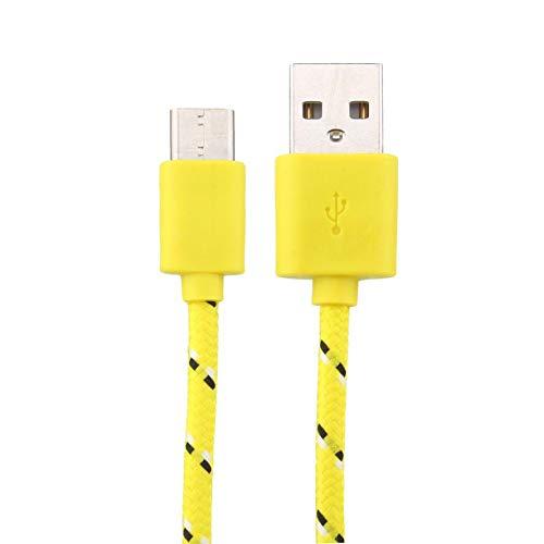 Type-C Kabel,Standard Datenleitung, 1M /3A Bolt Synchrones Ladegerät für Smartphones,Motorola, Huawei, Google, Samsung,LG & HTC,Lenovo (Gelb) -