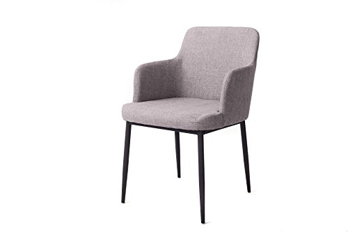 mmilo-premium-design-fabric-seat-backrest-contemporary-armrest-dining-chair-grey