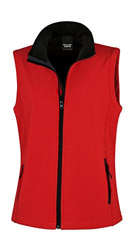 Result: Bedruckbarer Damen Soft Shell Bodywarmer R232F Red/Black