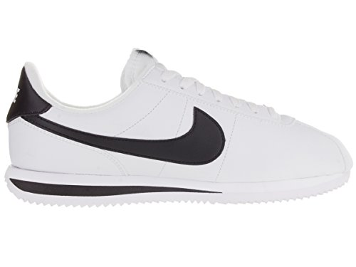 Nike Mens Cortez Basic Leather Trainers White/Black/Metallic Silver