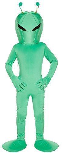 (Jungen Mädchen Kinder Grün Fach Alien ET Sci Fi Buch Film Kostüm Kleid Outfit 4-12 Jahre - Grün, 7-9 years)