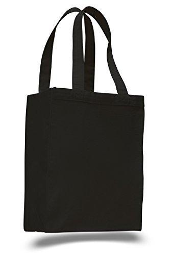 Extra Heavy Duty Leinwand Tasche mit Zwickel (Single) schwarz