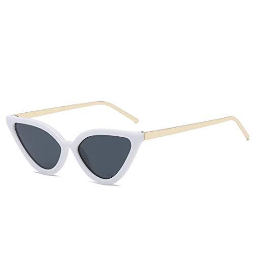 Ofliery Mode Katzenauge Dreieck geformt Sonnenbrillen für Frauen Männer kleinen Rahmen Glas (Color : D)