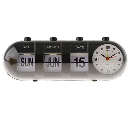 B Blesiya Reloj Flip Retro Moda Reloj Escritorio Despertador