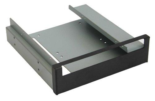 InLine 39950G Einbaurahmen für Slimline Laufwerke (2x 6,4 cm (2,5 Zoll) zu 13,3 cm (5,3 Zoll)) mit Schrauben schwarze Blende