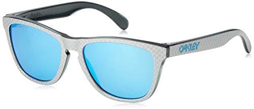 Oakley Herren Frogskins 9013c0 Sonnenbrille, Silber (Checkbox Silver/Prizmsapphire), 55