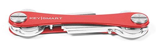 KeySmart Extended | Compacto Llavero y Organizador (2-8 Llaves, Rojo)