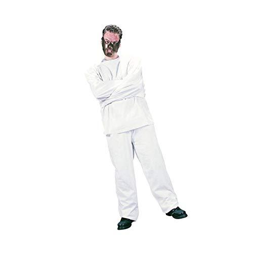 Nerd Clear Hannibal Lecter Psycho Kostüm für Männer & Frauen | 2-teilig: Zwangsjacke & Maske | Einheitsgröße