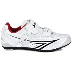 Spiuk Brios Road - Zapatilla de ciclismo unisex, color blanco / negro, talla 49