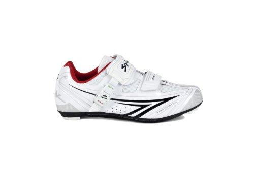 Spiuk Brios Road - Zapatilla de ciclismo unisex, color blanco/negro, talla 49