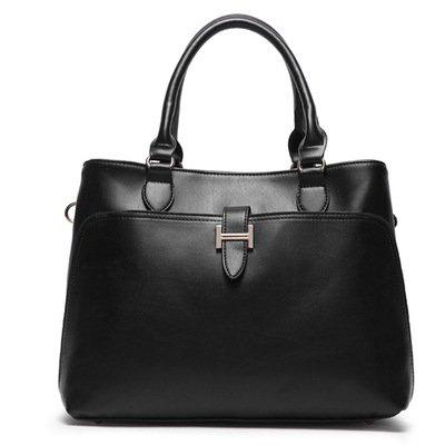 X&L Women's Vintage Mode Handtasche Umhängetasche diagonal paris black