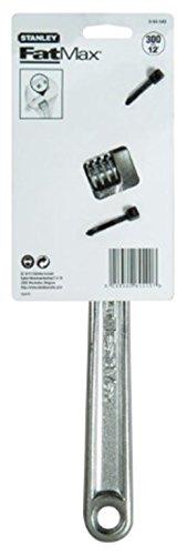 Stanley FatMax Einmaulschlüssel verstellbar, 41 mm Maulbreite, 300mm Länge, Chrom-Vanadium Stahl, vernickelt, 0-84-540