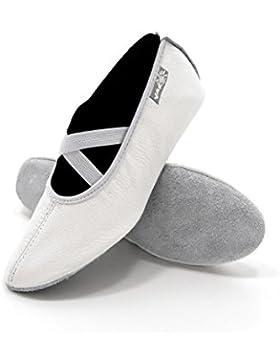 Yaro Ballettschuhe, Gymnastikschuhe, Turnschuhe, Aus Leder, Verschiedene Farben, Gr. 23 bis 40