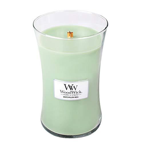 Woodwick, Duftkerze im Glas, Weidenmoos, groß Willow Glas
