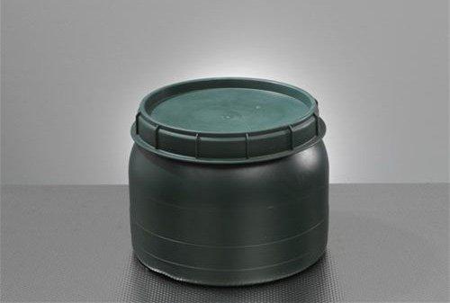 Weithals-Fass grün 25 Liter mit Deckel Nässe-Schutz Transport-Faß Fische Camping