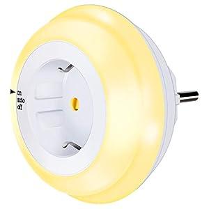 Nachtlicht Steckdose mit Dämmerungssensor,Emotionlite LED Nachtlampe Kinder Schützen Steckdose Orientierungslicht…