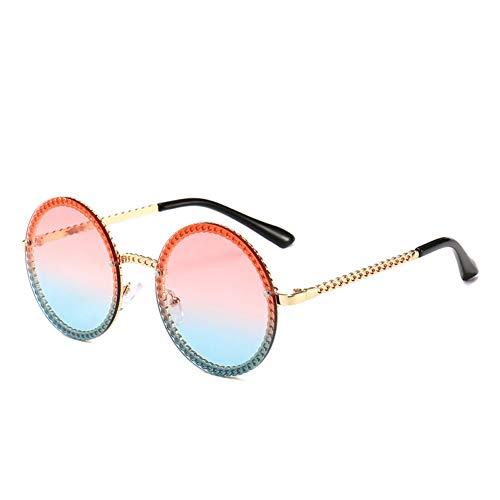 Taiyangcheng Polarisierte Sonnenbrille Neueste Retro runde Sonnenbrille Frauen seile Design Farbverlauf rosa Ozean Sonnenbrille Vintage Mode gläser,rot blau