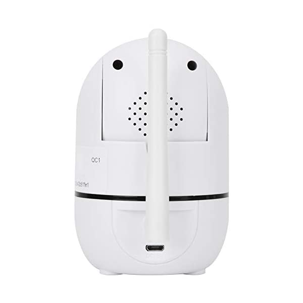 Baby Monitor 720P/1080P HD WiFi Camera Baby Pet Monitor, Smart Wireless IP Camera Indoor Camera with Night Vision and Motion Tracking White(1080P)  720P/1080P HD Images & Night Vision: This baby monitor adopt 1080P/702P full HD lens to ensure bright and beautiful images. Premium infrared light with IR-CUT function, provides clean and clear night vision effect. Intelligent tracking, human body detection, area protection (200W model support). Motion Tracking: The IP camera can monitor movements then send notification to your mobile phone to prevent your home From invasion. Intelligent cruise, internal auto cruise mode, records every corner of your home to escort your home security. 2 Way Audio Anti Noise: Baby pet monitor camera support two-way voice intercom, built-in microphone & speaker and anti noise technology to ensure clear voice quality. The fluent sound allows you to comfort your loved one. You can communicate with each other clearly whenever you want. 9