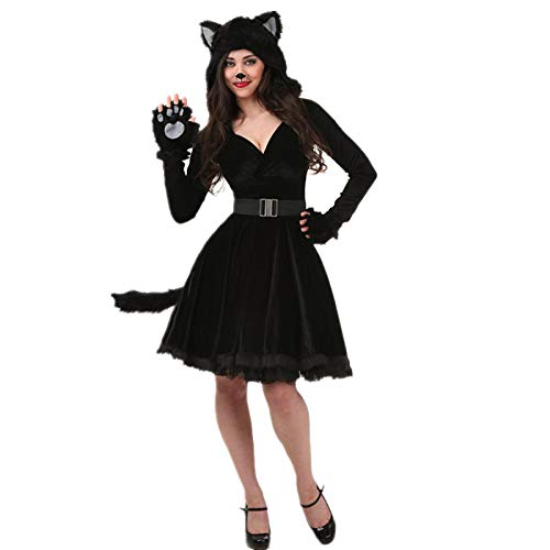 Kostüm Cat Kleinkind Girl - WSJYP EIN Stück Cat Girl Cat Frauen Cosplay Party Panda Pack Tier Ds Kostüm Für Halloween,Adultfemale-M