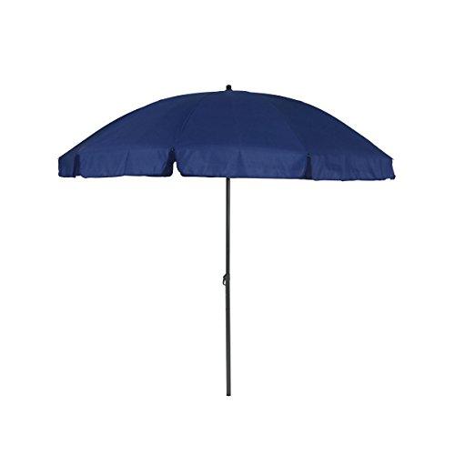 Greemotion 127163 ombrellone tondo parasole spiaggia da giardino, blu, 240x240x238 cm