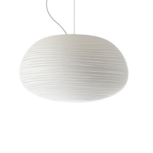 Foscarini Design / Moderne / Foscarini Rituals 2 Suspension Luminaire FLUO Multiple Canopée blanc Verre / Metal / Rond Compatible pour LED E27 Max. 1 x 15