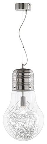 WOFI/Action Futura Pendant Lamp with 1 Lamp - Nickel Finish