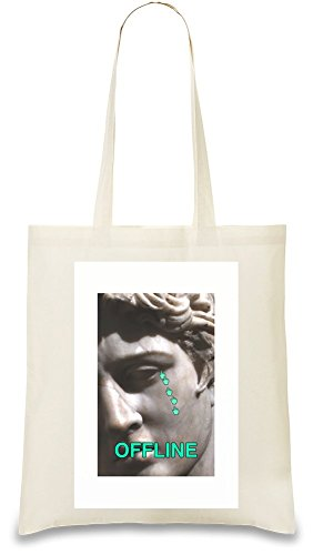 Price comparison product image OFFLINE Custom Printed Tote Bag| 100% Soft Cotton| Natural Color & Eco-Friendly| Unique, Re-Usable & Stylish Handbag For Every Day Use| Custom Shoulder Bags By Bang Bangin