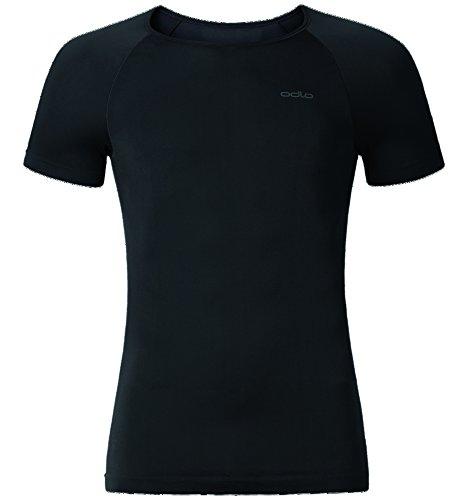 Polyester S/s Shirt (Odlo Herren Unterhemd Shirt Short Sleeve Crew Neck Evolution X-Light, black, S, 182042-15000)