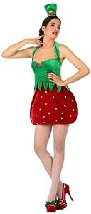 Atosa-10521 Disfraz Fresa, color rojo, Medium/Large (10521)