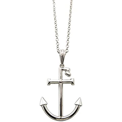 R Navy Anchor Celebrity Fans '3 mm 45,7 cm con catena in argento