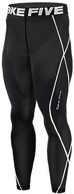 New 011 Skin Tights Compression Leggings Base Layer Black Running Pants Mens