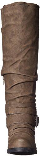 Carlos by Carlos Santana Claudia Kunstleder Mode-Knie hoch Stiefel Taupe