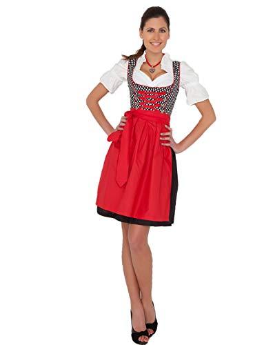 Bier Kostüm Mädchen Deutsch - Yummy Bee - Dirndl Oktoberfest Bier Mädchen + Strümpfe Karneval Fasching Kostüm Damen Größe 36 - 50 (38-40)