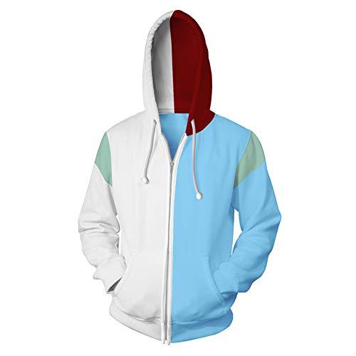 Frühling Herbst Hoodie Cosplay Kostüm Reißverschluss Jacke Sweatshirt für Männer & Frauen Top Kleidung Merchandise