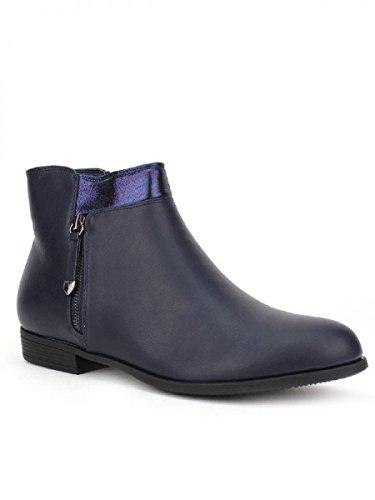 Cendriyon, Bottine bleue Simili cuir SALINS Chaussures Femme Bleu