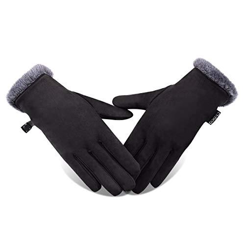 Opard Touchscreen Handschuhe Damen Winterhandschuhe Fahrradschuhe Frauen Handschuhe Winter Warm (S)
