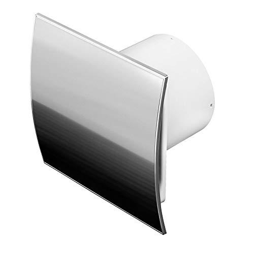 Acero inoxidable baño Ventilador 100mm de diámetro temporizador/seguimiento egelung con válvula antirretorno...