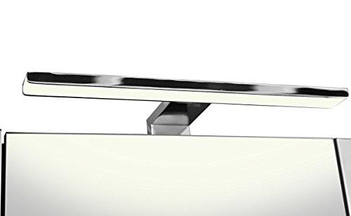 Galdem ELEGANCE Spiegelschrank 70cm Badezimmerschrank Wandschrank Badmöbel 3 Spiegeltüren LED Beleuchtung 6 Einlegeböden Anthrazit - 4